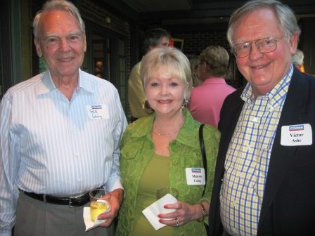 Dr. Bill and Sharon Laing chat with former Knoxville mayor and U.S. Ambassador Victor Ashe, right.