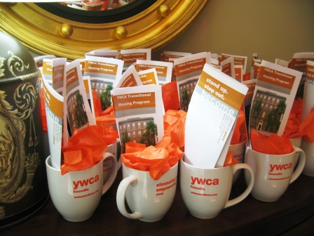 Everyone got a YWCA mug as a parting gift.
