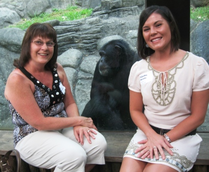 I think this chimp liked Tess and Tabatha as much as they liked him!