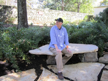 Alan takes a rest in the Danae Garden.
