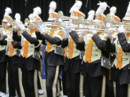 The trombone section.