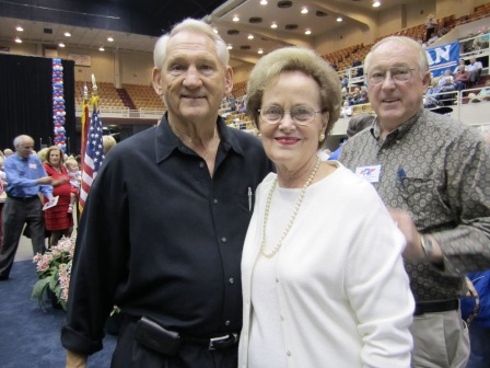 Republican Charles and Phyllis Severance were on hand.
