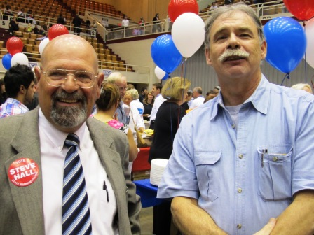 Former City Councilman Steve Hall, left, and Smitty Giles.