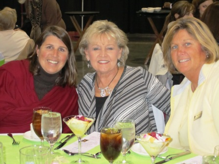 From left, Amanda Armstrong and Elizabeth Thomas, both of Children's Hospital, and Karen Massey of the Knoxville Convention Center