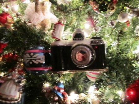 Toy camera ornament