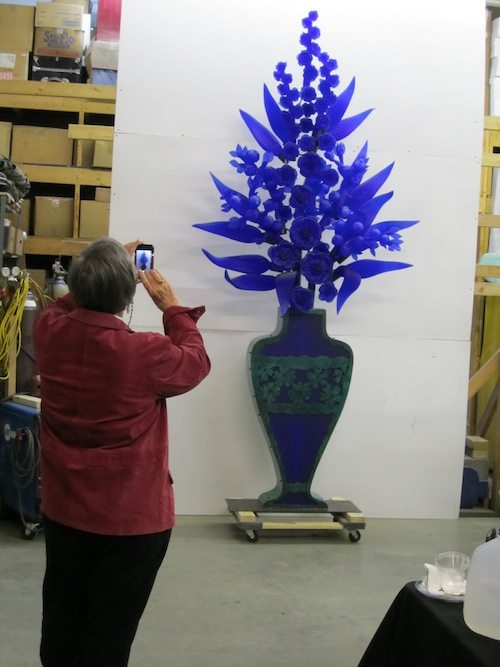 Karen Swander takes the chance to snap a shot of the stunning piece headed to Mobile.