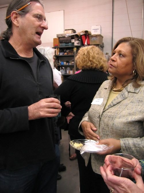 Richard Jolley and Phyllis Nichols during the cocktail hour.
