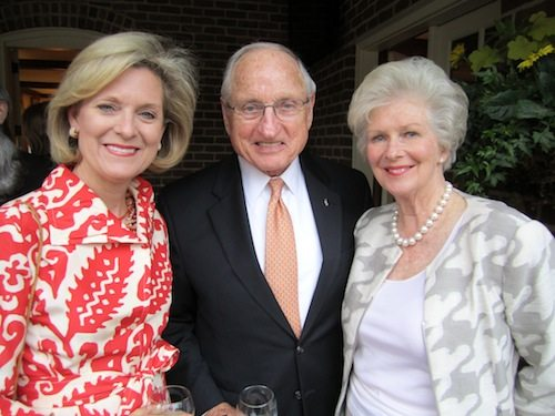 Carlton Long, left, Vince Dooley and Natalie Haslam