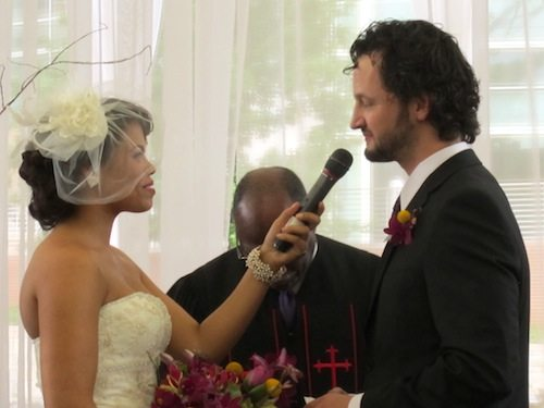 The vows, which they wrote themselves, were touching.