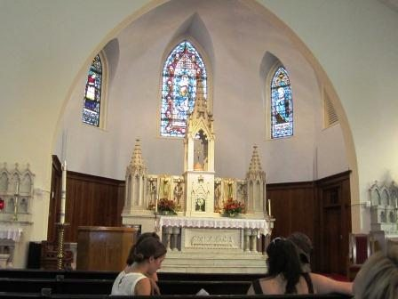 The beautiful altar was added in 1891.