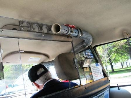 Our cab featured a unique air conditioning system. Ha!