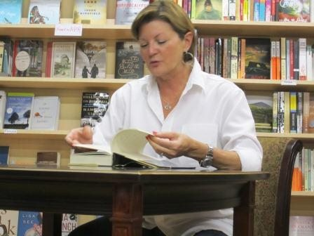 Melinda Meador, one of the owners of Union Ave Books, reads from Cormac McCarthy's Suttree.