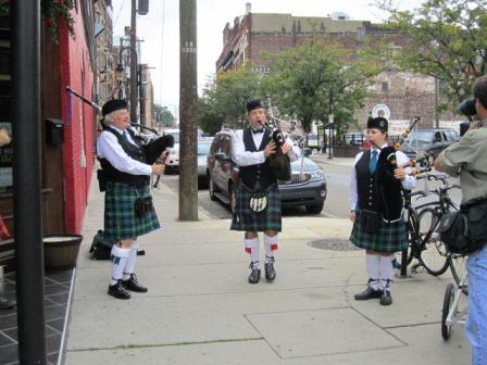 Outside, they were playing Rocky Top on the bagpipes!