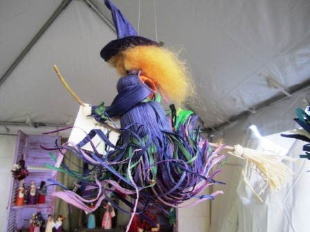 Anne Freels was offering cornshuckery demonstrations, but not while I was there. I loved her cute witches, though.