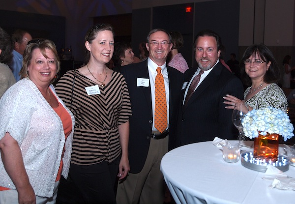 From left, Regina Dean, Becky Hancock, Rober Elder and Lucas and Debbie Richman