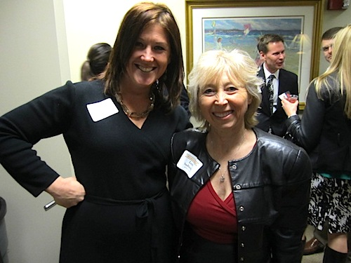 Here's another example: Erin Donovan from WBIR, left, with Lena Sadiwskyj, vice prez of news and operations at WVLT-TV.