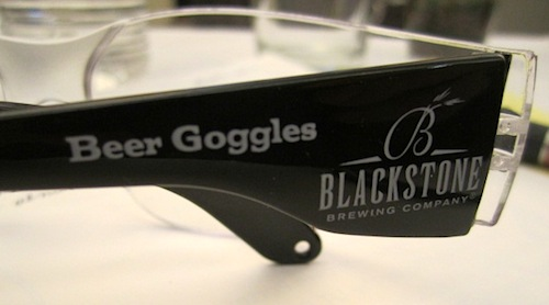"Everyone who tours Blackstone is given a pair of beer goggles. Even though our tour was a ""virtual"" tour, we still got the gogges!"