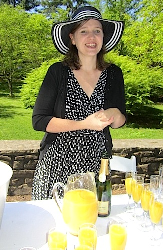 Danielle Velez, membership and special events manager, was pouring mimosas.