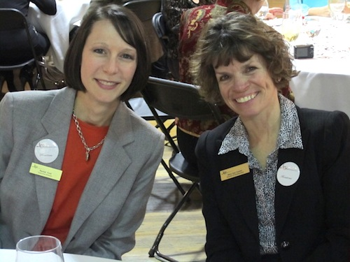 Rachel Ford and Mary Sue Greiner, right, also with the Symphoy staff.