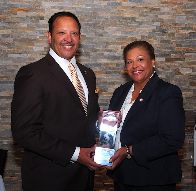 "National Urban League President and CEO Marc Morial presented Knoxville Area Urban League President and CEO Phyllis Nichols the national ""Women of Power"" award when he was in Knoxville recently."