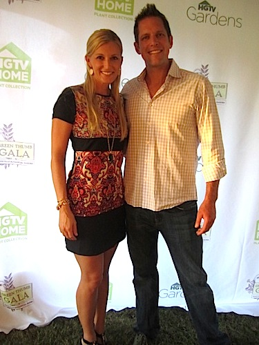 """HGTV stars Peyton and Chris Lambton were on hand. Their current show is called """"Going Yard."""""""