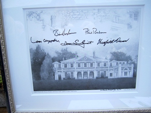 This photo of the Tennessee Residence was signed by all five living Tennessee governors.