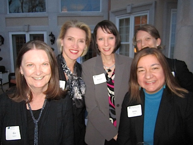 From left, Gay Lyons, Mary Bogert, Rachel  Ford, Patty Bragg (in back) and Anita Lane.
