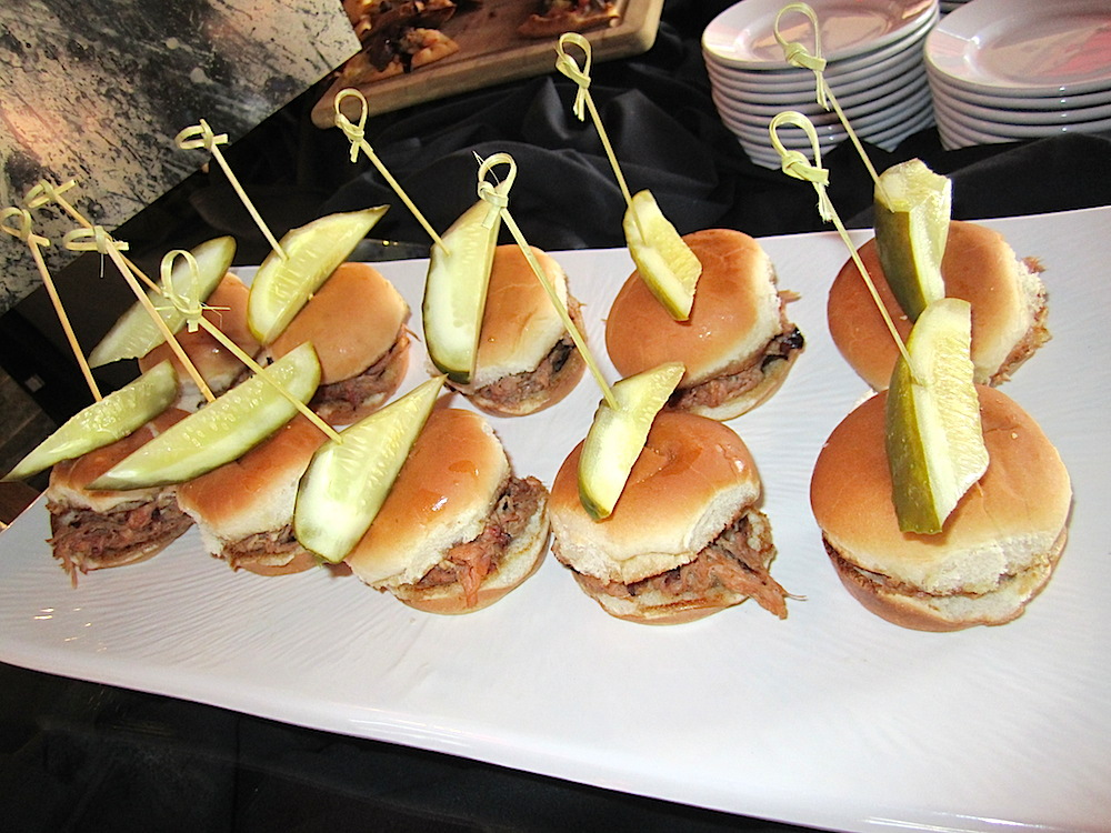 Pulled pork sliders were popular.