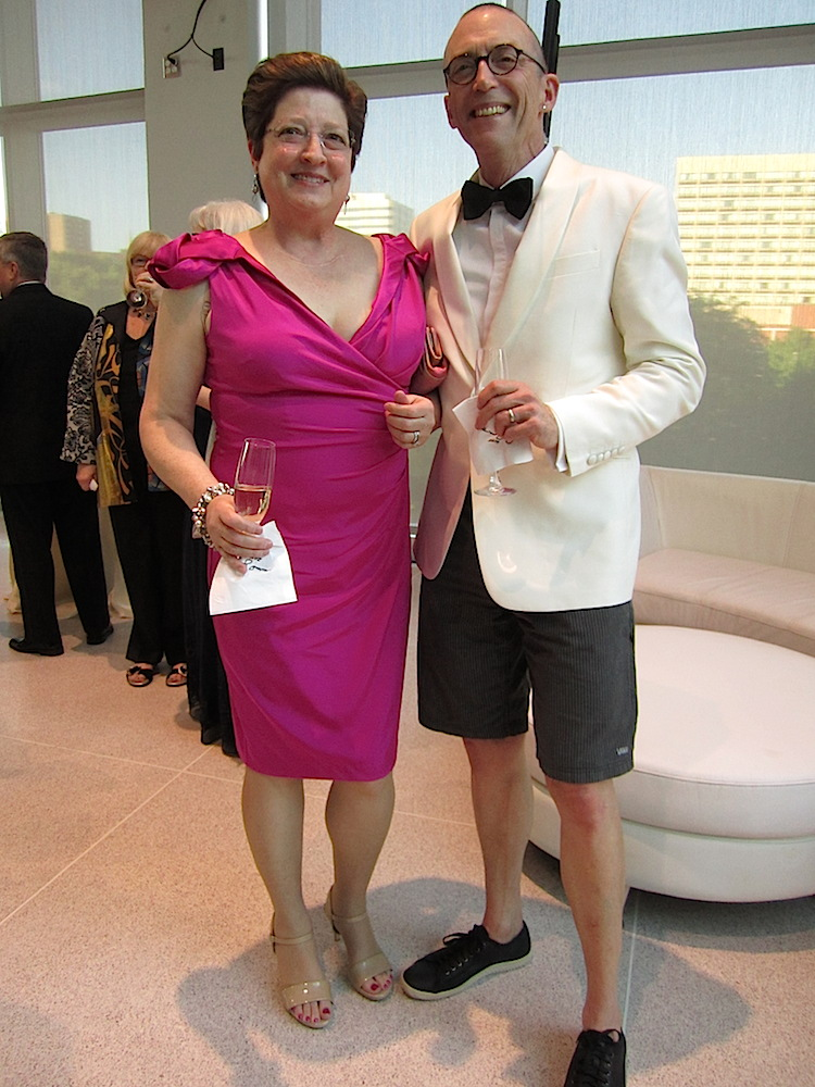 And the prize for most unusual male outfit! Here are Cathy and Mark Hill.