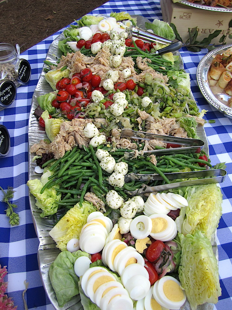 The main course salad was perfect for a warm spring evening.