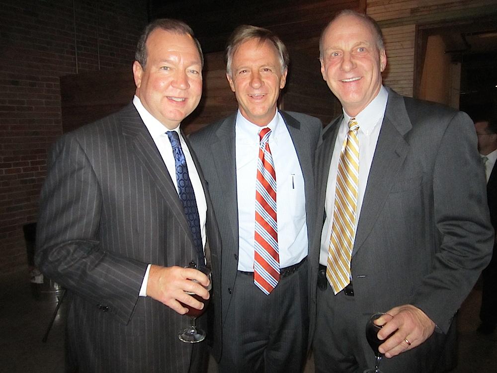 From left, Steve South, Gov. Bill Haslam and Bruce Hartmann at the Alison Krauss dinner.