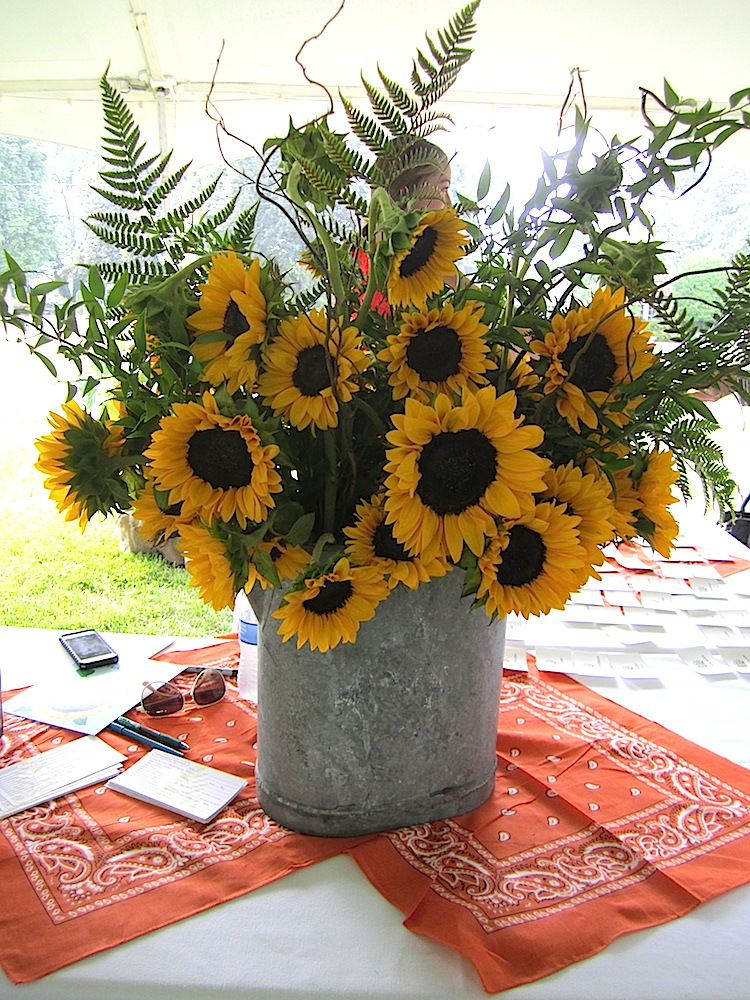 "Nothing says, ""Have a happy summer,"" like sunflowers."