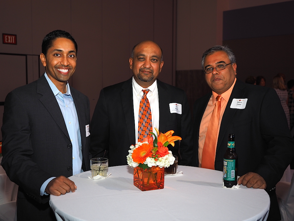 From left, Sam, Jay and Kevin Patel. (Photo by Gary Heatherly.)