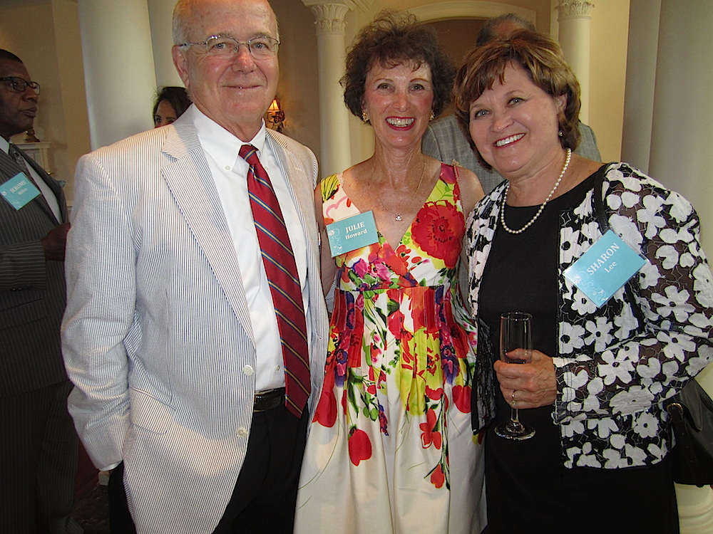 Chief Justice Lee, right, with Ted Flickenger and Julie Howard.