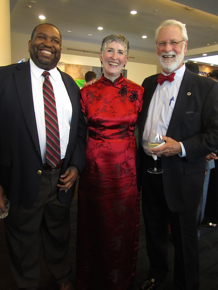 City Councilman Finbarr Saunders, right, with his wife, Ellen Bebb, and Terry Tabors of the Knoxville Chamber.