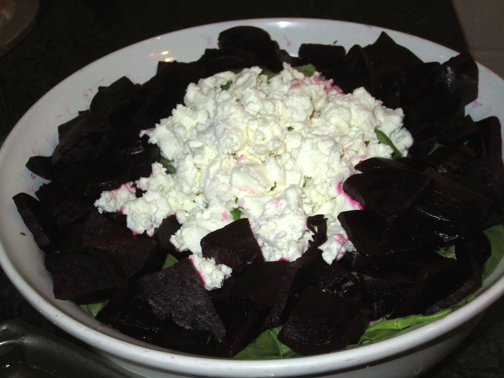 As was the roasted beet salad with goat cheese.