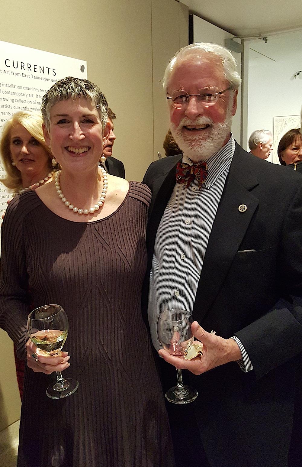 City Councilman Finbarr Saunders and his wife, Ellen Bebb.