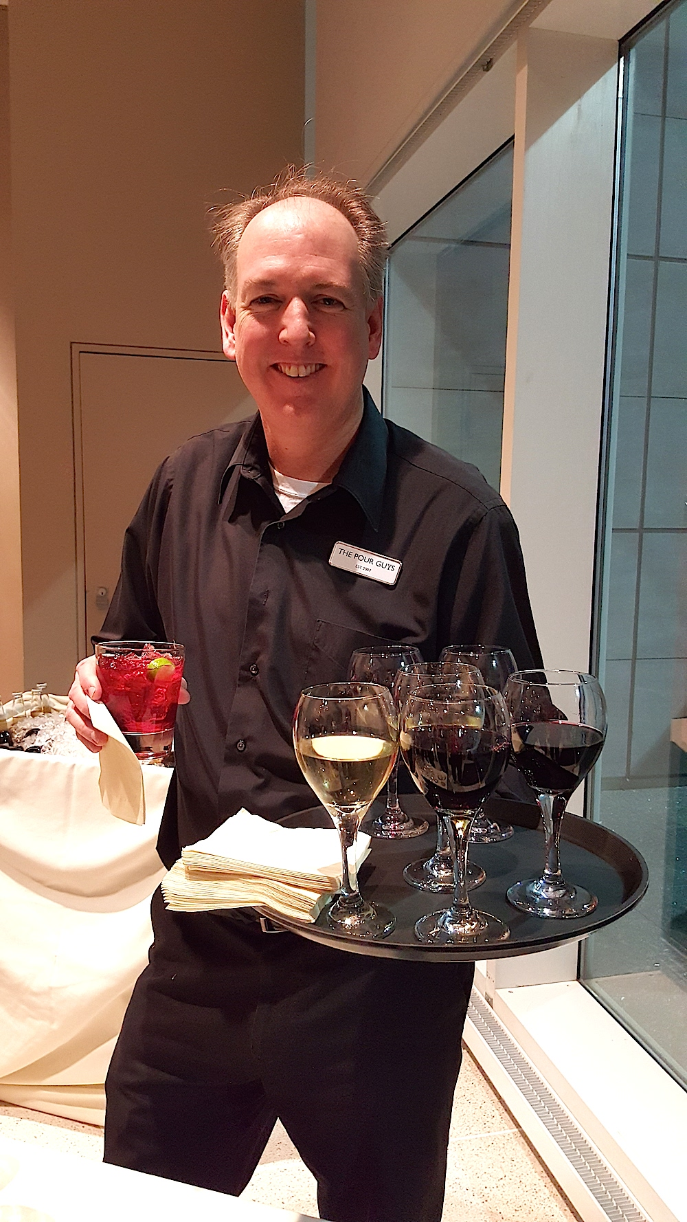 And Jerry Kruse of The Pour Guys bartending service.