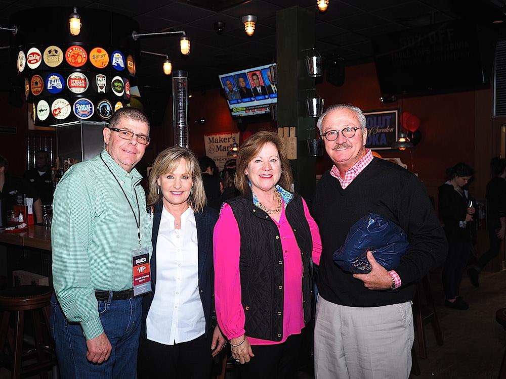 Investors Mark and Sharon Thornburg, left, with Charmaine and John Francis. (Photo by Gary Heatherly.)