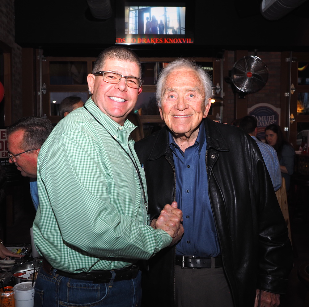 When Bill Regas showed up at the VIP party, he was treated like a rock star by the restaurant people. The former owner of Knoxville's iconic Regas Resaturant, he is restaurant royalty.