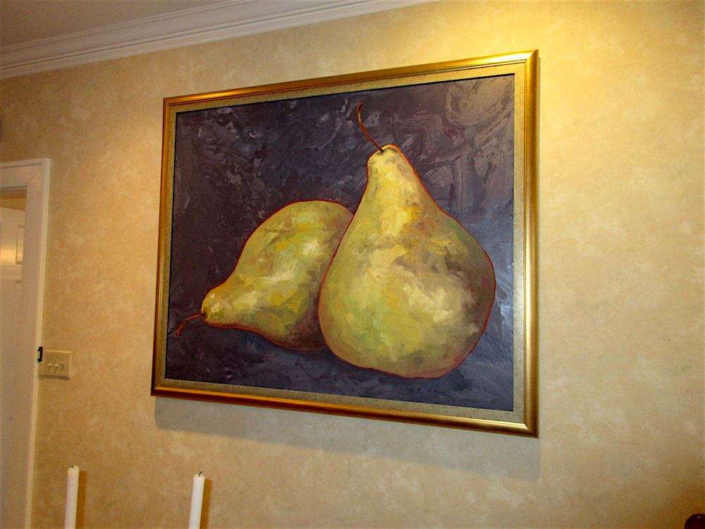 "This painting of pears is called ""A Perfect Pair."" Ha."