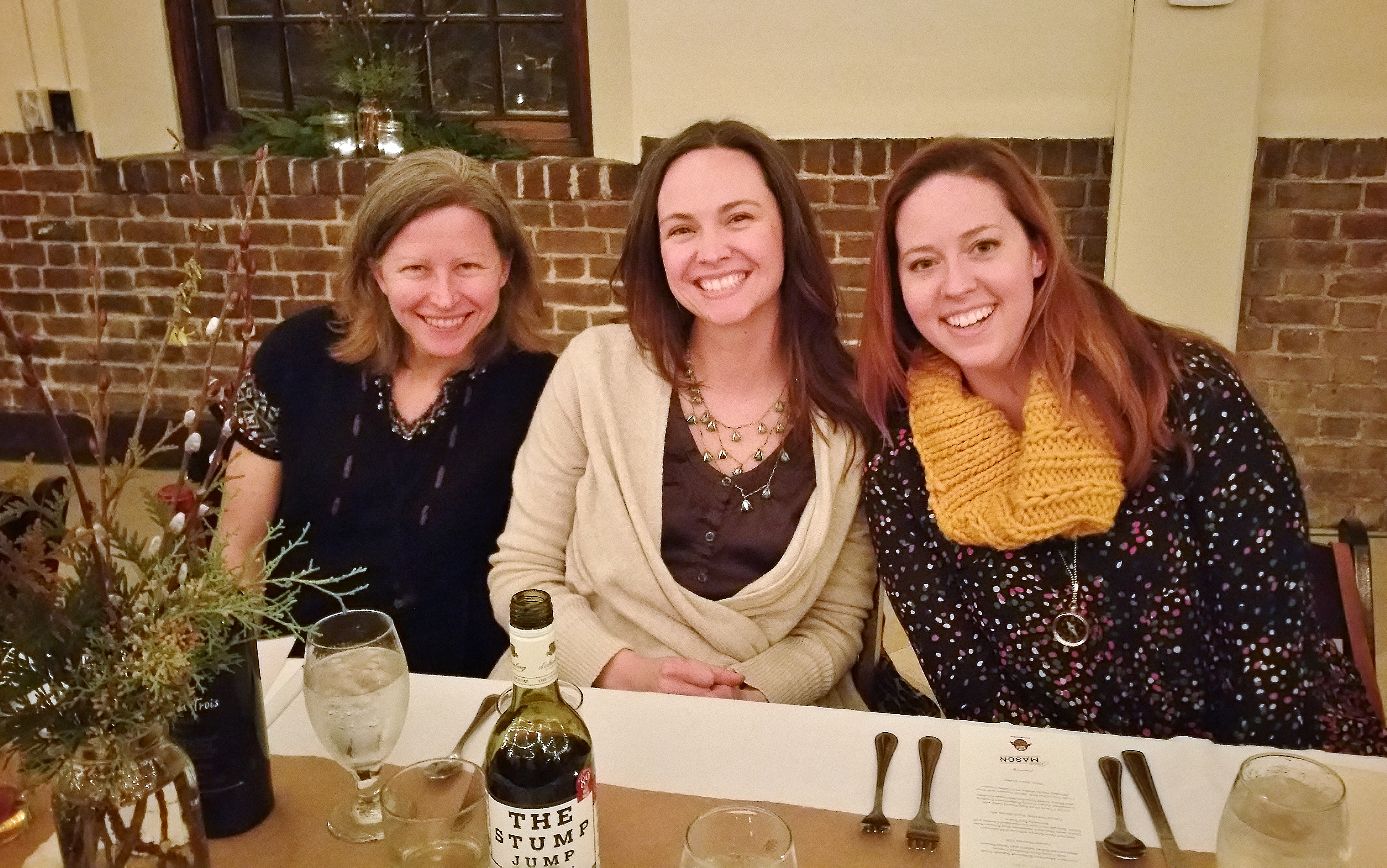 Diane Reynolds, Mary Beth Tugwell and Katie Tugwell. Mary Beth works with Dewhirst Properties, who provided the space for the evening.