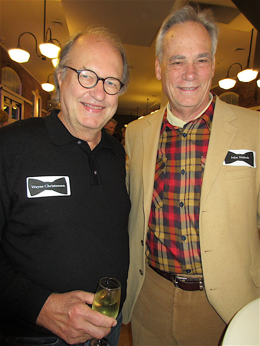 Wayne Christensen, left, with John Welsch.