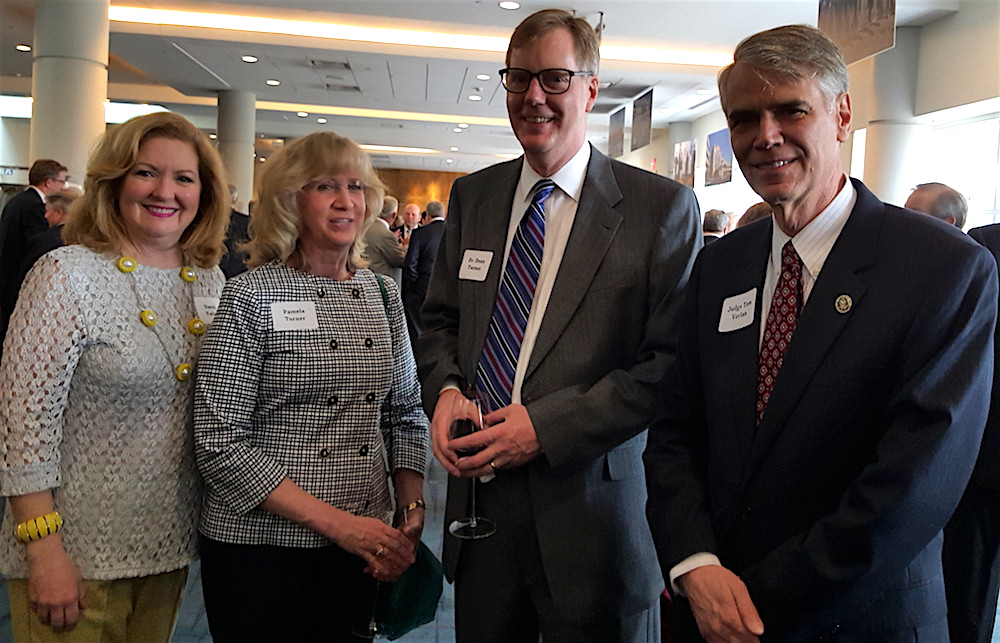 Pamela and Dr. Dean Turner, center, are flanked by Danni and Chief U.S. District Judge Tom Varlan.