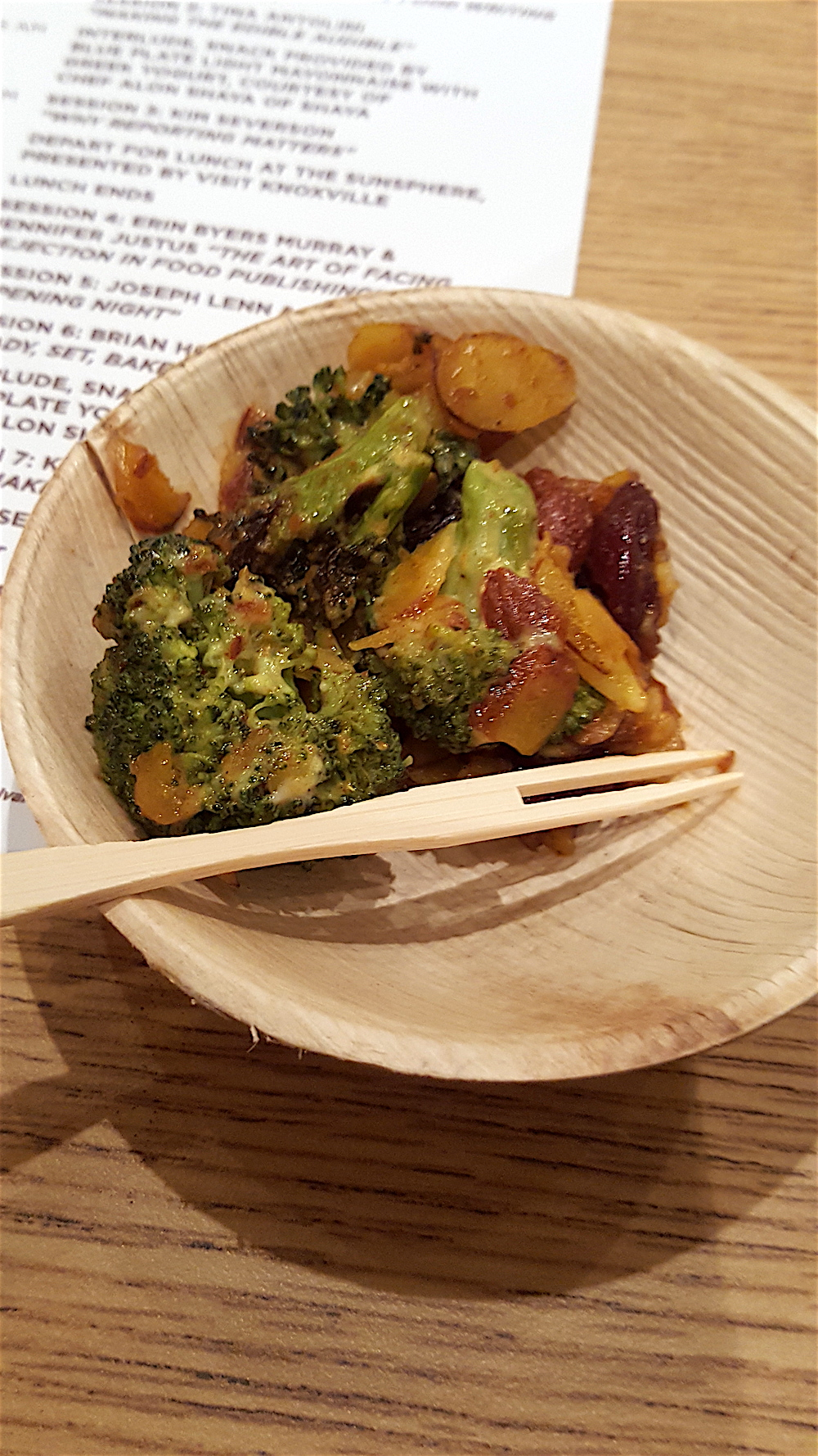 Also prepared by Chef Alon Shaya, charred broccoli salad was made with Blue Plate Light Mayonnaise with Greek Yogurt.