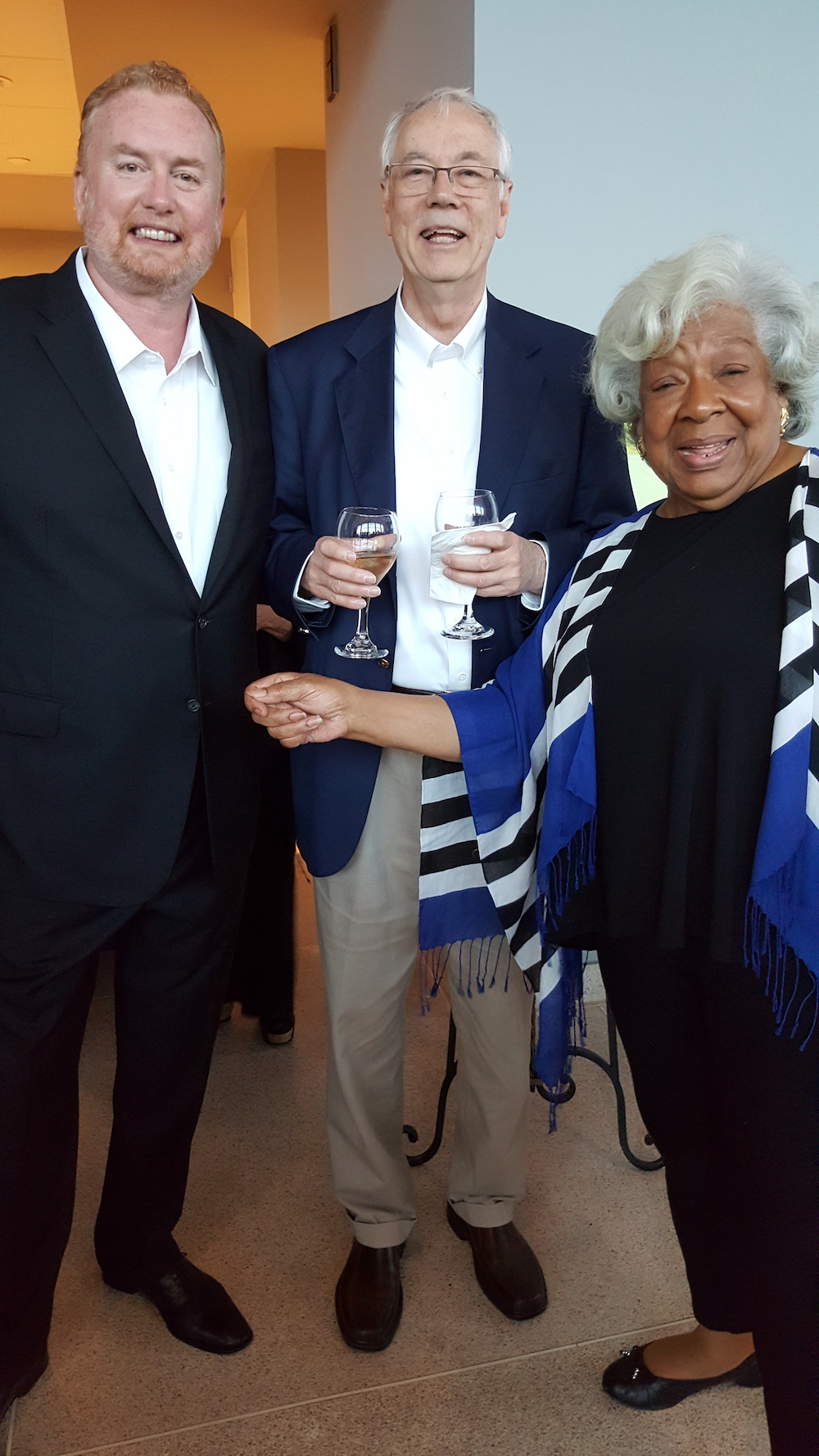 From left, Greg Dunn, Alan Carmichael and Sylvia Peters.