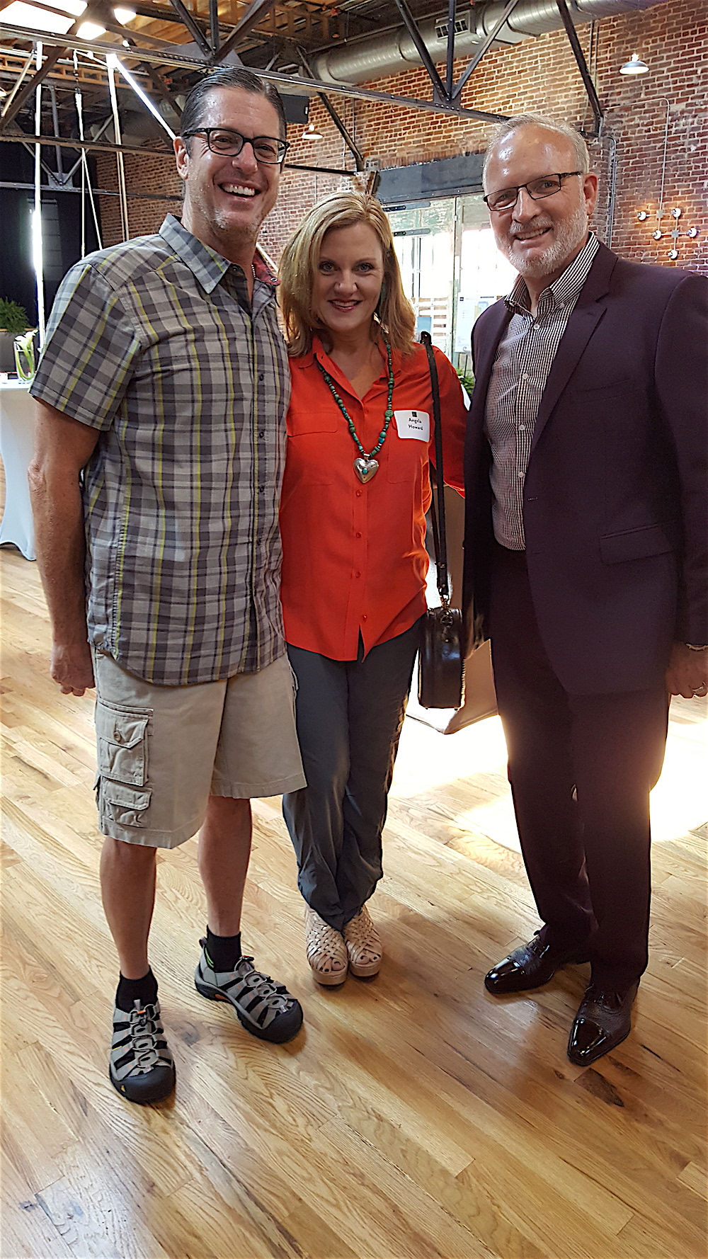 From left, Rick Stone, Angela Howard and Doug White. Rick and Angela each are purchasing condos in Regas Square.