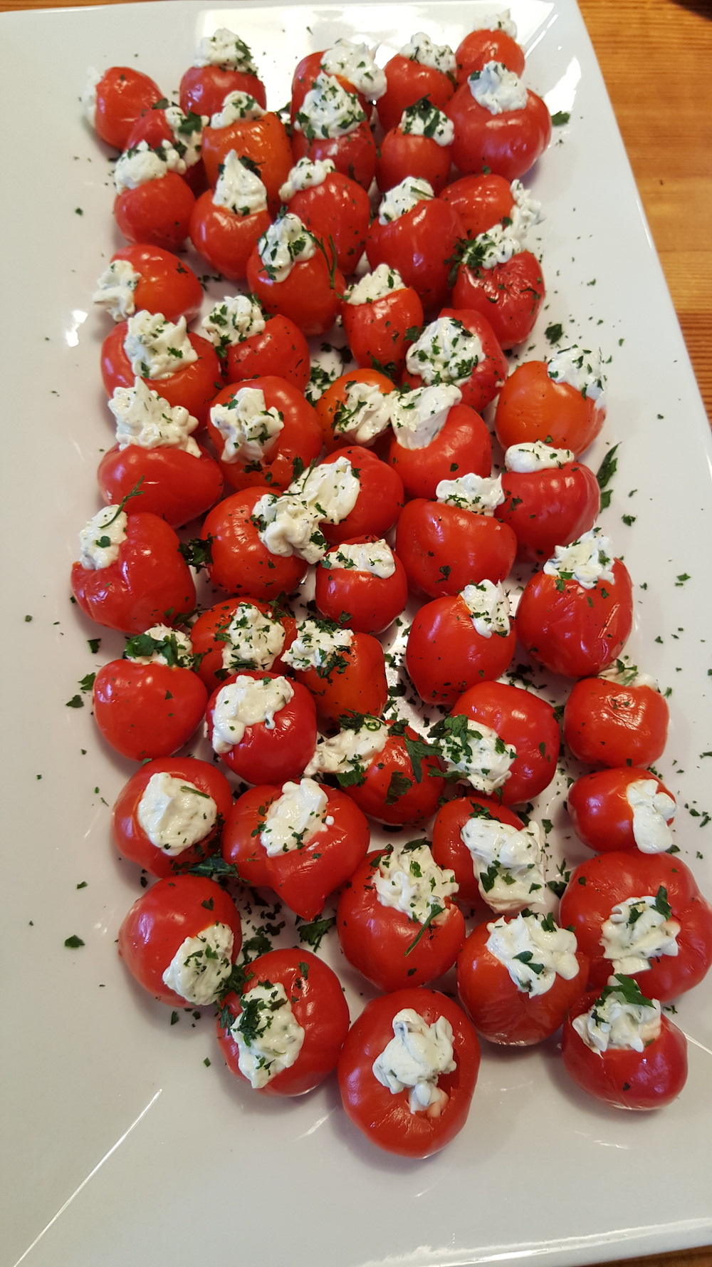 Another appetizer was stuffed Peppadews.