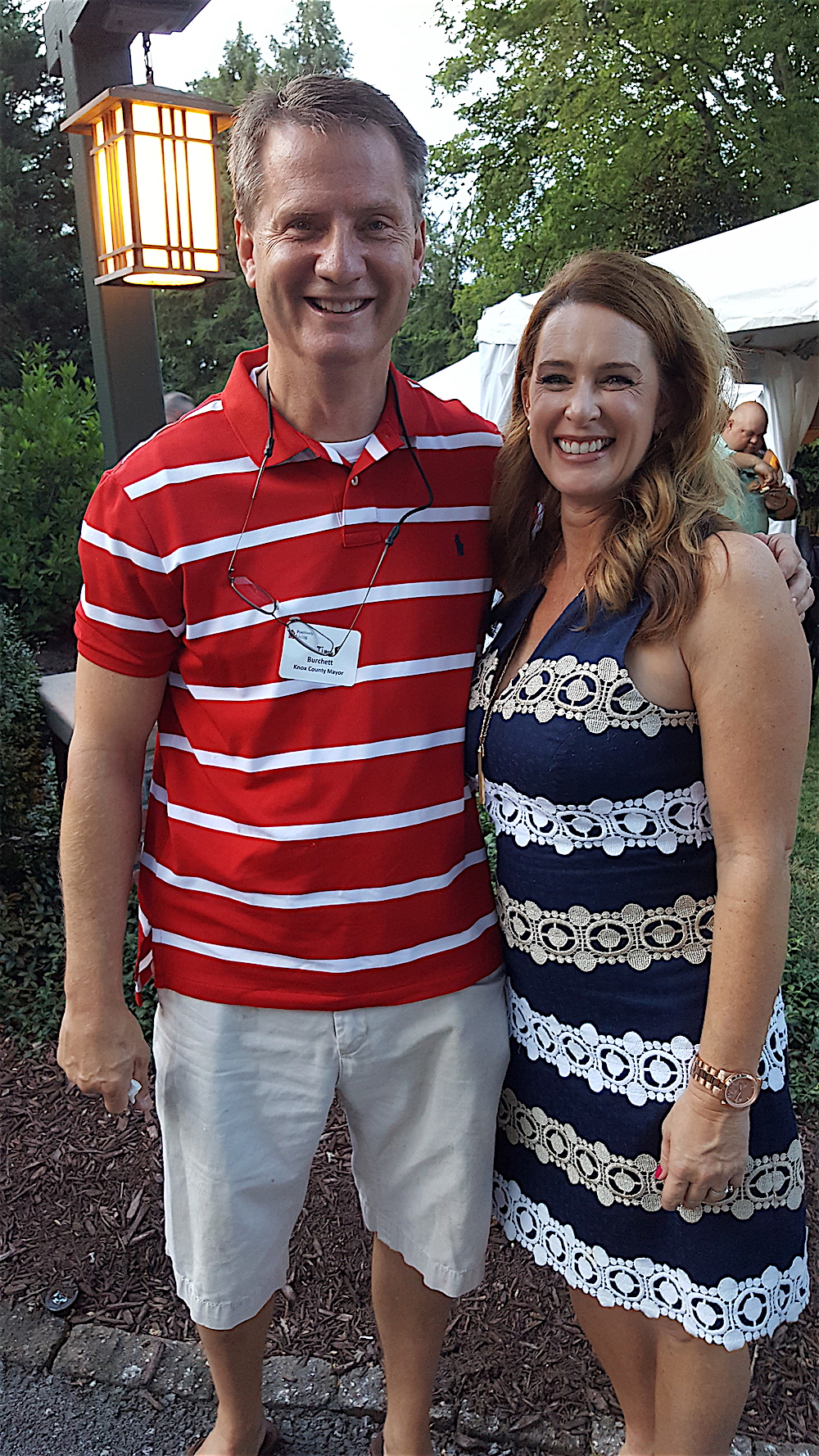 Knox County Mayor Tim Burchett was there with his wife, Kelly.