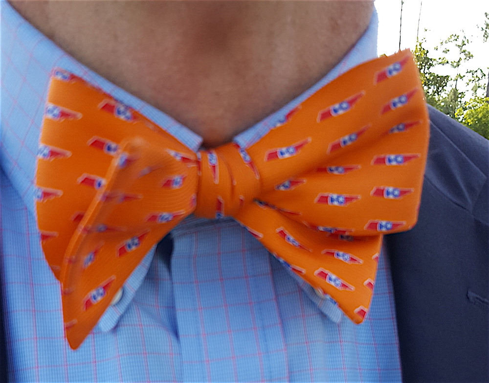Love his bow tie with the little Tennessees on it!